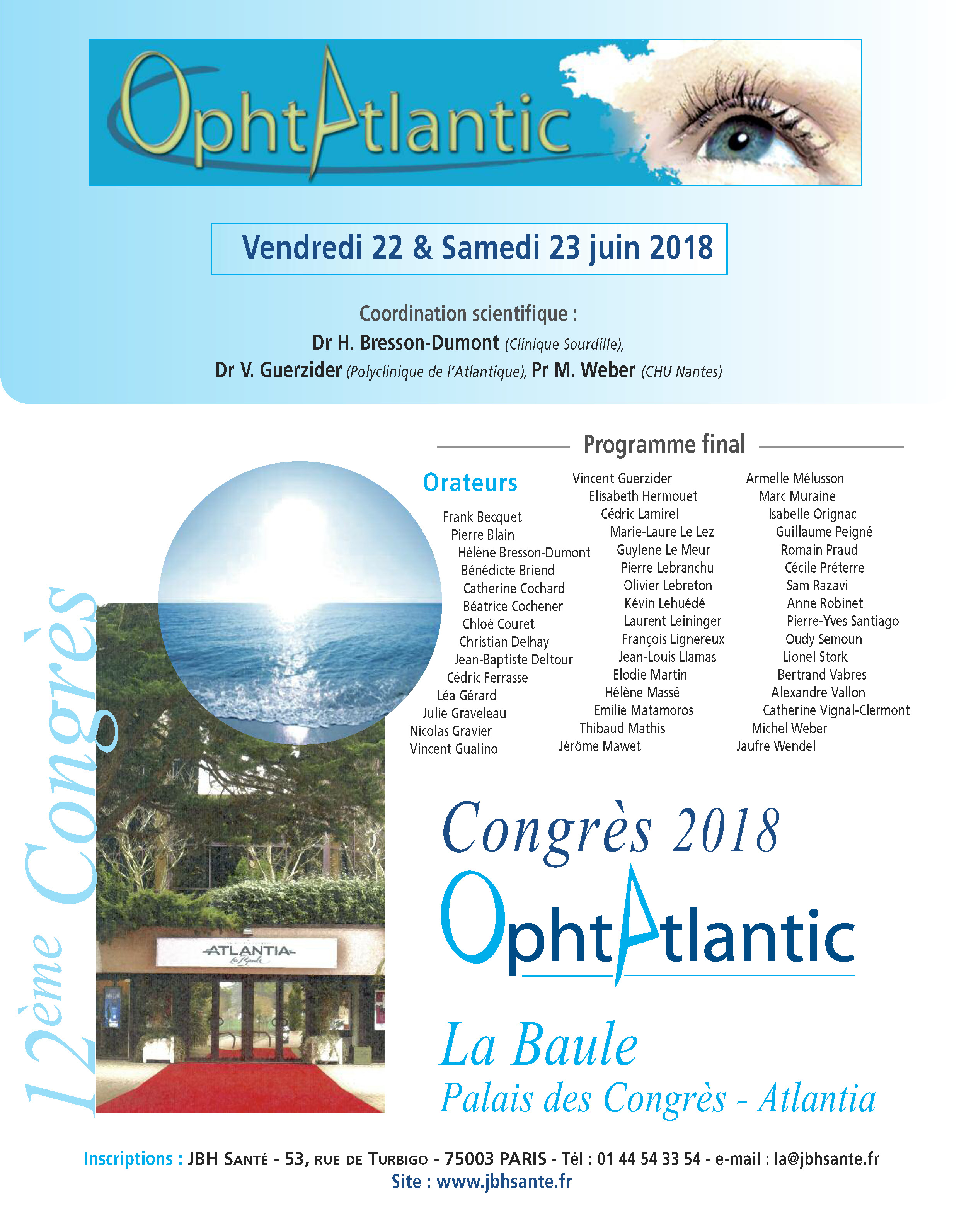 12e Edition d'OphtAtlantic